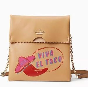 Kate spade takeout bag Viva el taco crossbody bag